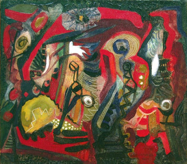Composition (1951) - Léon Bellefleur