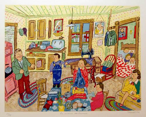 La cuisine des Lacasse (Bonheur d'occasion) 1983 - Miyuki Tanobe