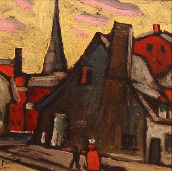 Scène de rue, Montréal (c. 1922) - Marc-Aurèle Fortin