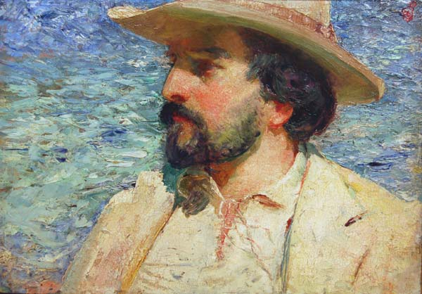 Portrait of the American Poet Richard Hovey (1898) - Henri Sandham