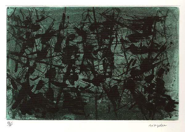 Jean-Paul RIOPELLE - Ombre verte (1967)