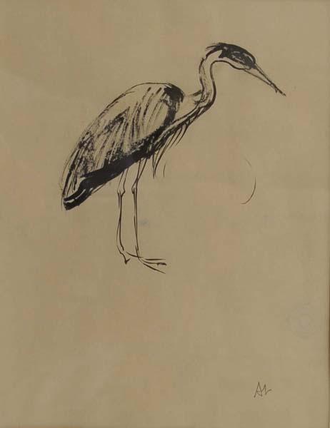 Arthur LISMER - Héron, August 1957, Vancouver Zoo (1957)