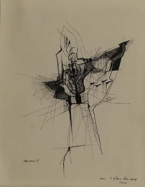 Jean-Paul MOUSSEAU - Sur le plan des deux axes (1951)