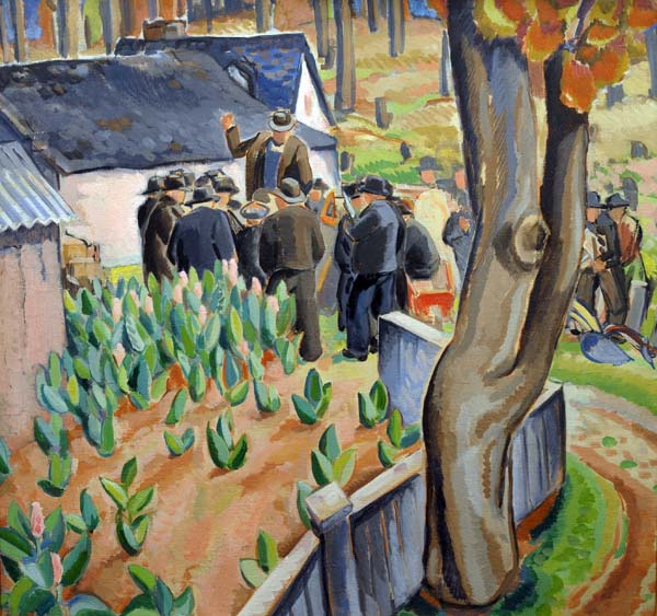 André BIéLER - Jour d'élections dans un champ de tabac (1942)