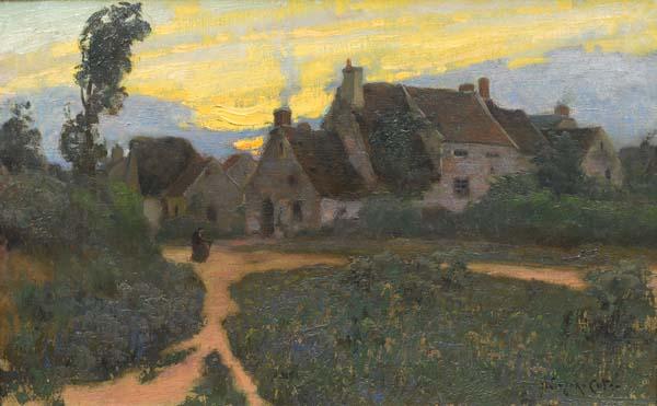 Village en Normandie (1906) - Marc Aurèle Suzor-Côté