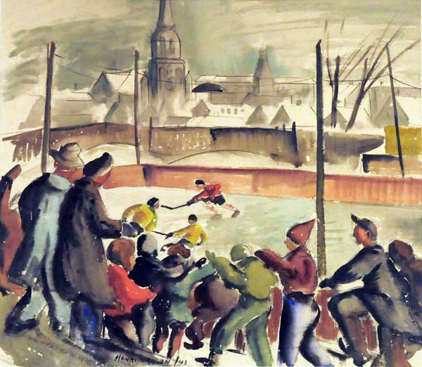 Henri MASSON - Patineurs (1943)
