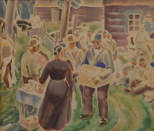 L'encan à Sainte-Adèle (1935) - André Biéler