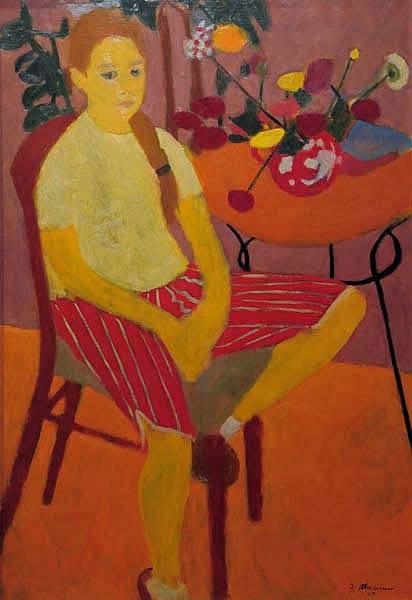 Jeanne RHéAUME - Portrait de la fille de l artiste (1959)