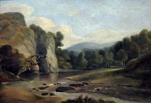Edmund Willoughby SEWELL - Paysage (Riviière et montagnes l été) c. 1830