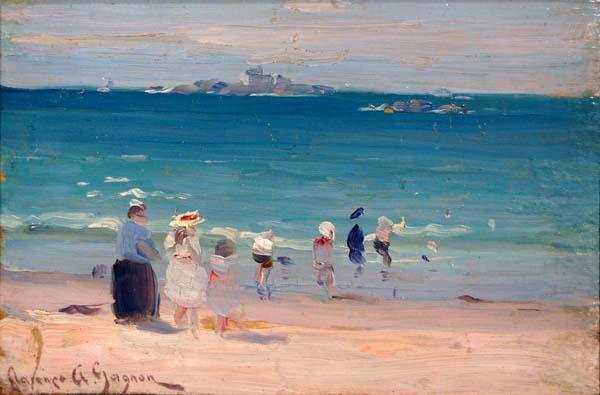 Clarence A. GAGNON - Plage St Énogat (c. 1907)