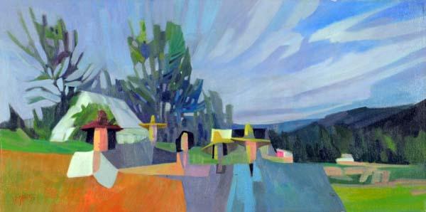 Claude LESAUTEUR - Des visiteurs à la ferme (1980)