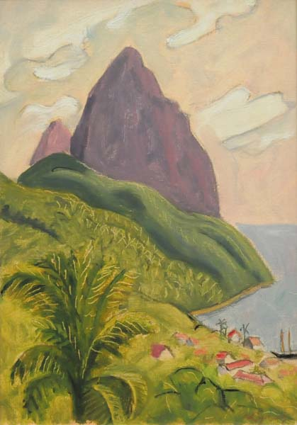 The Pitons, St Lucia (c. 1960)  - John Lyman