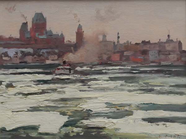 Ice Floes, QC (c. 1940) - Robert Pilot