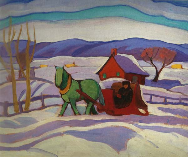 The Red Sleigh (c. 1924) - Sarah Robertson