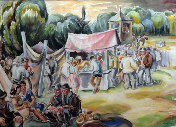 André BIéLER - Fair at Deseronto Reservation (1943)