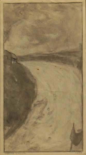 Ozias LEDUC - Sans titre (paysage) (1937)