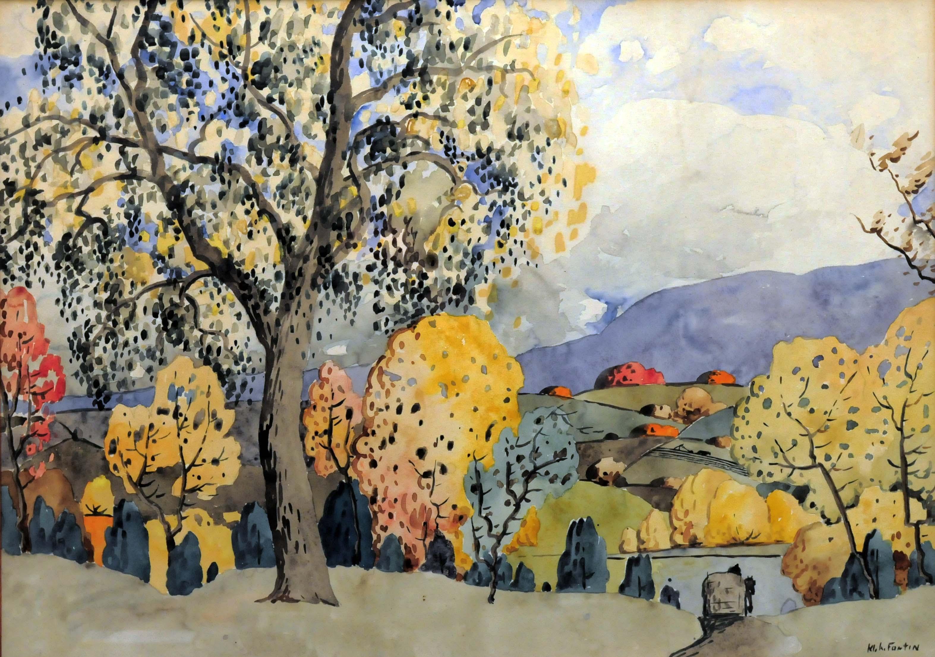 Marc-Aurèle FORTIN - Grand arbre à l'automne (c. 1922-23)