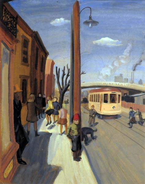 Philip SURREY - Street Scene, St-Henri des Tanneries (1944)