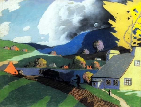 Marc-Aurèle FORTIN - Sans titre (Paysage d'été) c. 1928