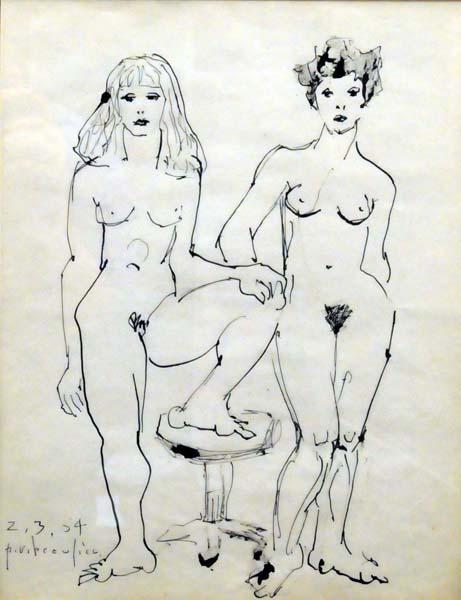Paul-Vanier BEAULIEU - Sans titre (1954)