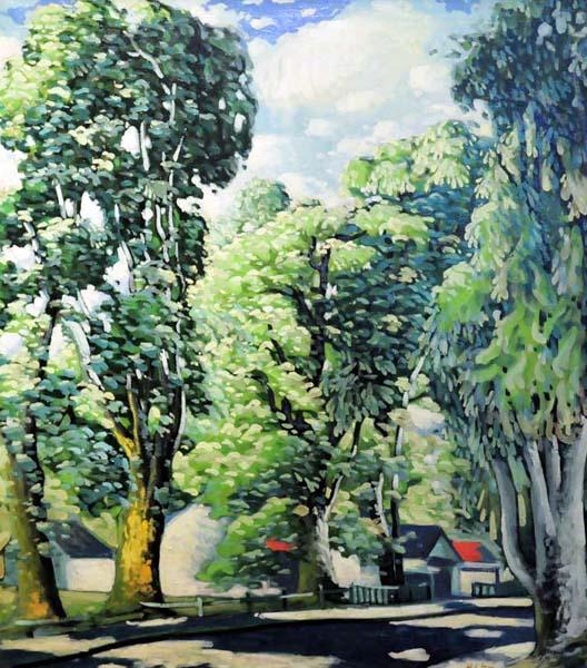 Rue à Ste-Rose (c. 1925) - Marc-Aurèle Fortin