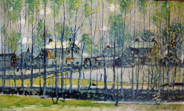 Marc-Aurèle FORTIN - Le ruisseau (de Ste-Rose) c. 1918/20