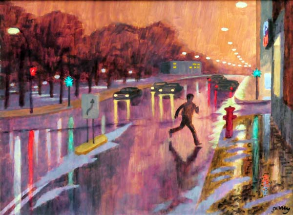 Philip SURREY - Rainy Night (Chemin Côte-des-Neiges) c. 1973