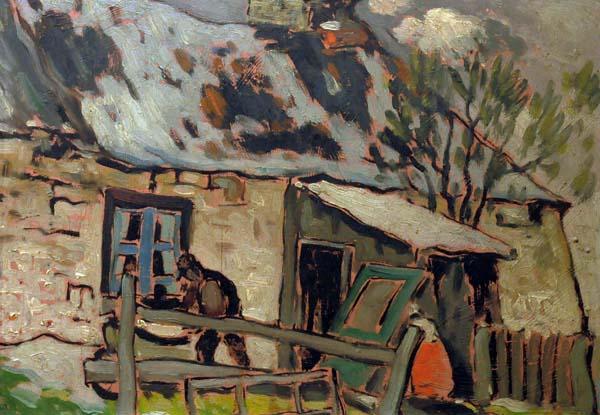 Marc-Aurèle FORTIN - Étude de maison (c. 1930)