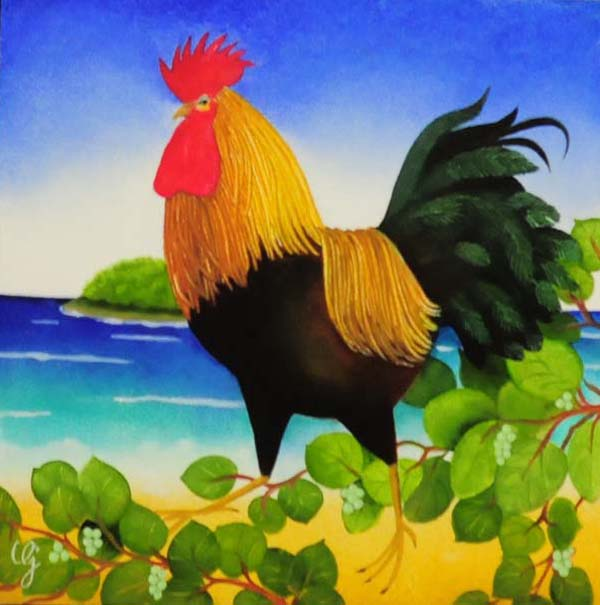 - Un coq à la mer