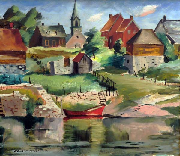 Henri MASSON - Sans titre (Village) 1941