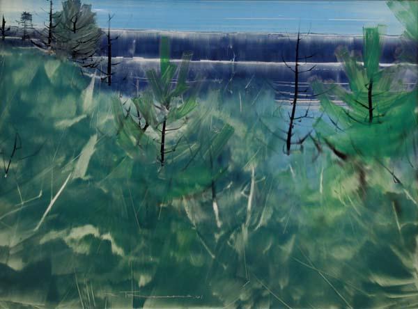 Jacques DE TONNANCOUR - Sans titre (paysage des Laurentides) 1961
