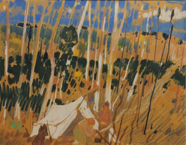 Campement de trappeurs (c. 1940) - René Richard