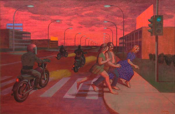 Philip SURREY - The Highway (Motards & Hippies) c. 1971