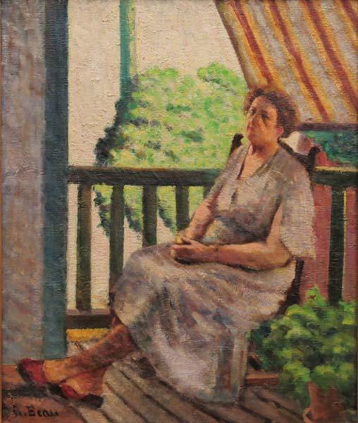 Marie Fertinel, épouse de l'artiste (c. 1940) - Henri Beau