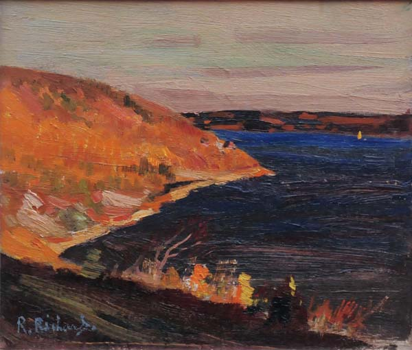 René RICHARD - Paysage, Baie-St-Paul (c. 1950)