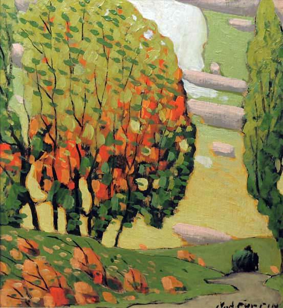Marc-Aurèle FORTIN - paysage d automne (c. 1925)