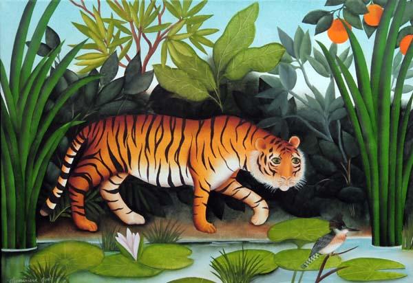 Geneviève JOST - Le tigre et le martin-pêcheur