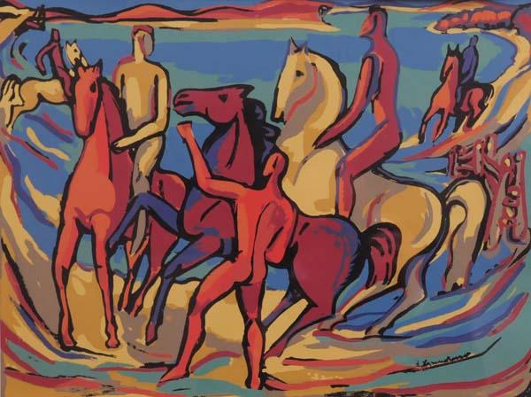 Fritz BRANDTNER - Riders (c. 1940)