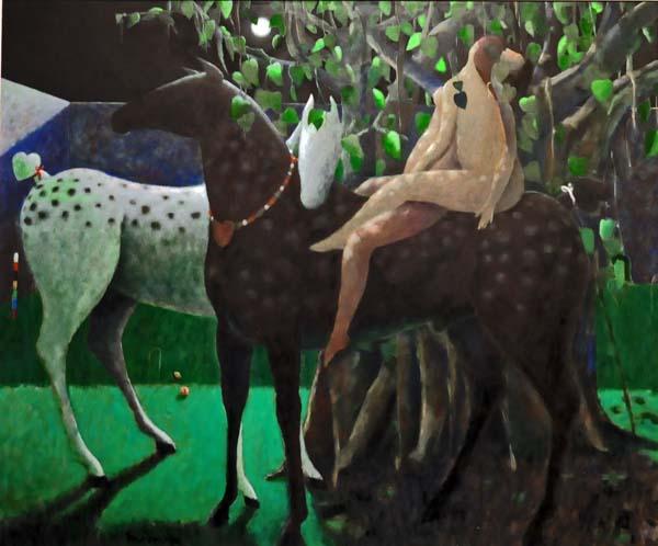 Henry Wanton JONES - Deux personnages, même cheval (1994)