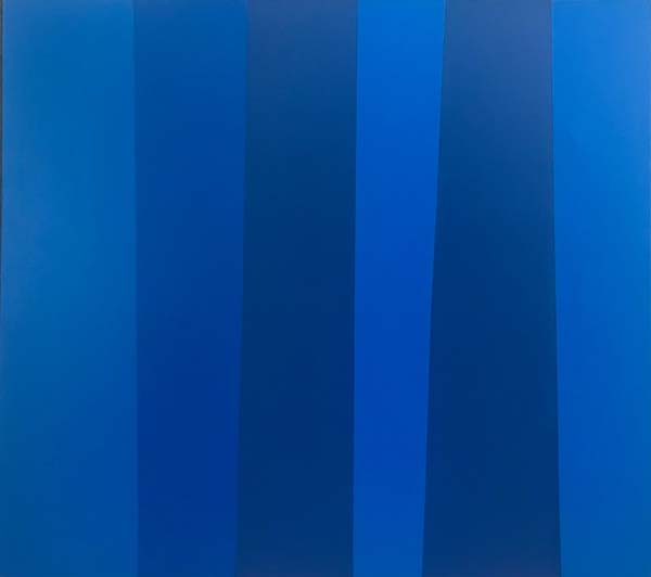 Guido MOLINARI - Quantificateur bleu (1988)