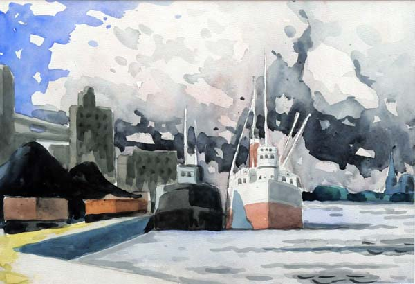 Étude le Port (c. 1930) - Marc-Aurèle Fortin