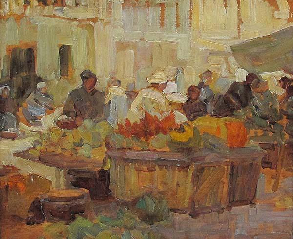 Market Place (c. 1910) - Helen McNicoll