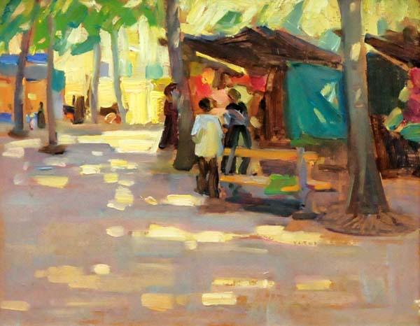 Helen MCNICOLL - On the Boulevard (c. 1906)