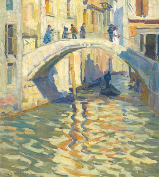 Helen MCNICOLL - Footbridge in Venice (c. 1910)