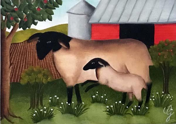 Geneviève JOST - Moutons