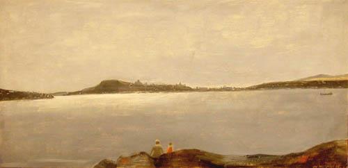 Jean Paul LEMIEUX - Québec, vue de l'île d'Orléans (1963)