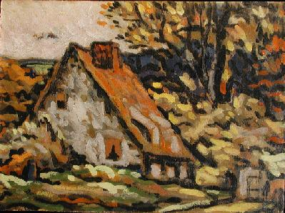 Paysage à Sainte-Rose (c.1945) - Marc-Aurèle Fortin