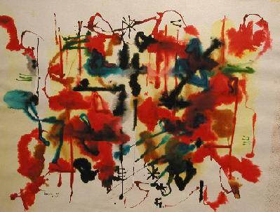 William RONALD - Abstraction 111, N.Y. (1955)