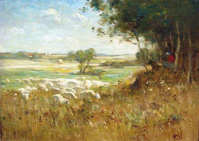 Horatio WALKER - Sheep- L'îLe d'Orléans (c.1900)