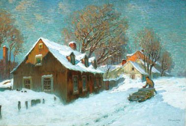 Marc Aurle SUZOR-CT - Village en hiver (1913)